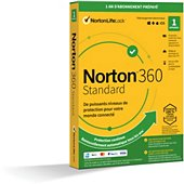 Logiciel antivirus et optimisation Symantec Norton 360 Standard 10Go 1 poste