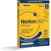 Logiciel antivirus et optimisation Symantec Norton 360 Deluxe 50Go 5 postes