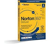 Logiciel antivirus et optimisation .  Norton 360 Deluxe 50Go 5 postes