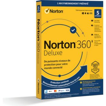 Norton Lifelock 360 Deluxe 50Go 5 postes