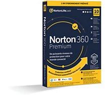 Logiciel antivirus et optimisation .  Norton 360 Premium 75Go 10 postes