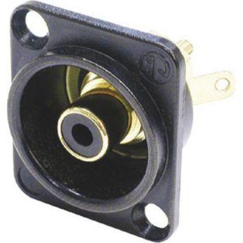 Neutrik socle RCA noir anneau de reperage noir N
