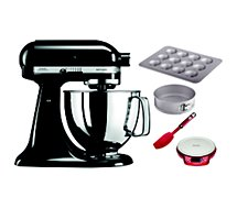 Robot pâtissier Kitchenaid 5KSM125EOB + Kit patisserie