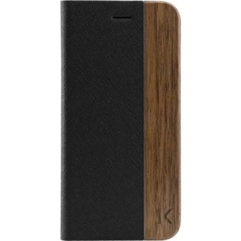 The Kase iPhone 7/8 FlipCase Bois naturel noir