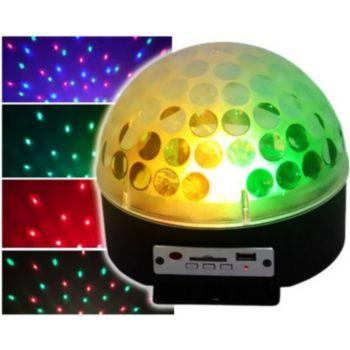 Ibiza Dôme lumineux de 3 LEDs RVB 3W SD/USB av