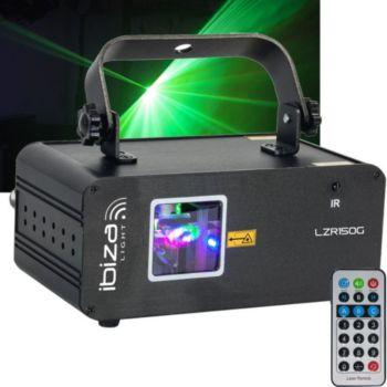Ibiza Light Jeu de lumière laser vert - 150mw - 9 ca