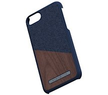 Coque Nordic Elements  iPhone 6/7/8 Bois de Noyer / Tissu bleu