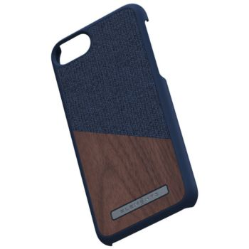 Nordic Elements iPhone 6/7/8 Bois de Noyer / Tissu bleu