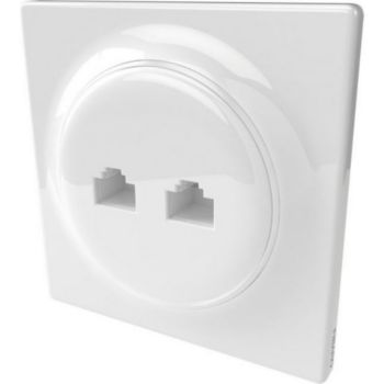 Fibaro Prise murale 2 ports RJ45 Walli Ethernet