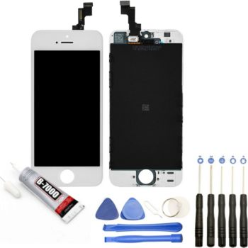 Visiodirect Vitre + LCD pour iPhone SE BLANC