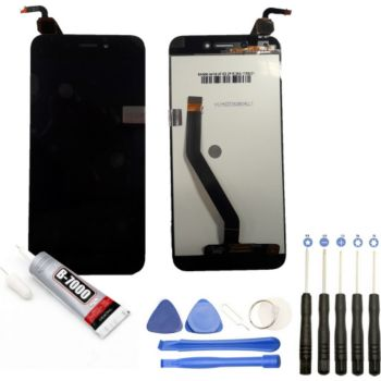 """Visiodirect Vitre + LCD pour Huawei 6A 5.0"""" NOIR"""