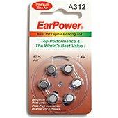Pile Earpower Piles Auditives EarPower A312