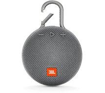 Enceinte Bluetooth JBL  Clip 3 Gris