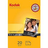 Papier photo Kodak  x20 High Gloss Ultra Pre 280g 10x15