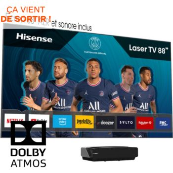 """Hisense 88L5VG Laser TV + écran Sonore 88"""""""