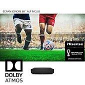 """Vidéoprojecteur home cinéma Hisense 88L5VG Laser TV + écran Sonore 88"""""""
