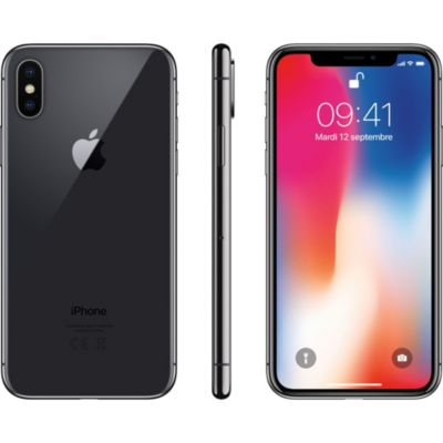 Location Apple - iPhone reconditionné Apple iPhone X 64Go Gris Sidéral Grade A+