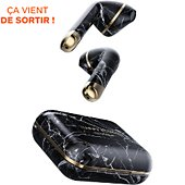 Ecouteurs Happy Plugs Air 1 Bluetooth Black Marble