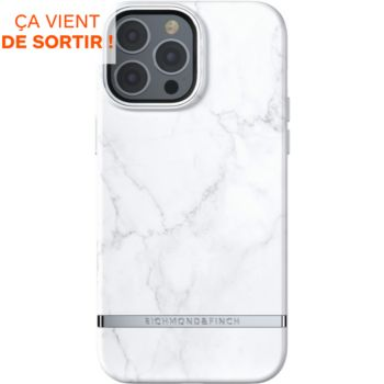 Richmond & Finch iPhone 13 Pro Max Marbre blanc