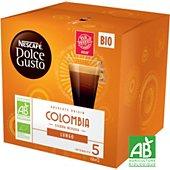 Capsules Nestle Nescafé Lungo Colombie Bio Dolce Gusto