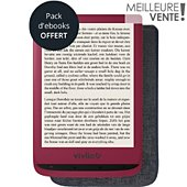 Liseuse eBook Vivlio Touch Lux 4 Rouge 6¨+ Cover - 8Go