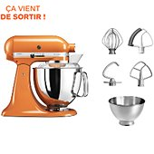 Robot pâtissier Kitchenaid 5KSM175PSEHY ARTISAN HONEY