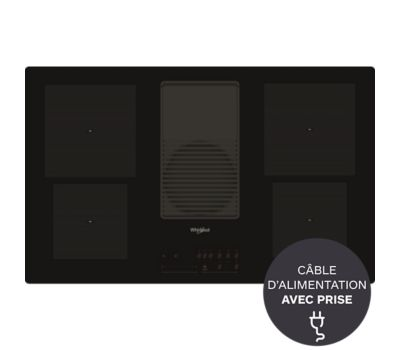 Table induction aspirante Whirlpool WVH92K W COLLECTION