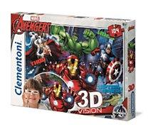 Puzzle Clementoni  The Avengers - 3D VISION 104 pièces