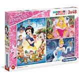 Puzzle Clementoni  Princess - 3x48 pièces