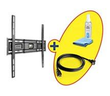 Support mural TV Meliconi  Fixe 40 à 80 pouces+HDMI 2m+Nettoyant