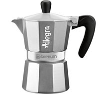 Cafetière italienne Bialetti Allegra in Sleeve Silver 3 t. expresso