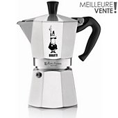 Cafetière italienne Bialetti Moka express Silver 6 tasses expresso