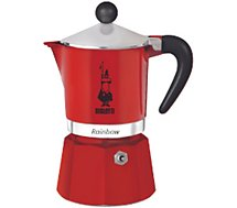 Cafetière italienne Bialetti  Rainbow 6 tasses red