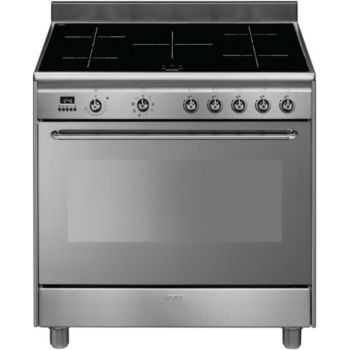 Smeg cg90ix9 piano de cuisson boulanger - Piano cuisine induction ...