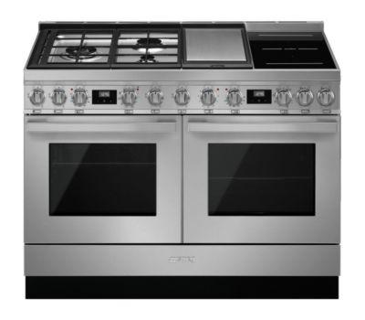 Piano de cuisson mixte Smeg CPF120IGMPX