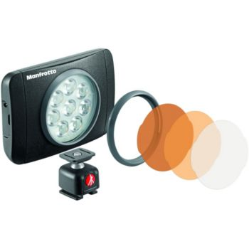 Manfrotto 8 LED 550 lumens Lumie Muse + Rotule