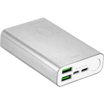 Puro 10000mAh 2 USBA + 1 USBC Silver