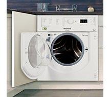 Lave linge séchant hublot encastrable Hotpoint  BI WDHL 75148 EU