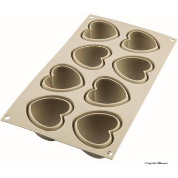 Silikomart 8 mini cuoricino coeur gris 3D