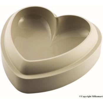 Silikomart batticuore coeur 20.5 x 8 cm gris 3D
