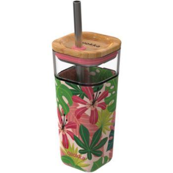 Quokka et paille Liquid cube jungle rose 5