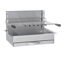 Grille barbecue Forge Adour encastrable inox 961.66