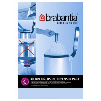 brabantia sacs poubelle 12l 40sacs distributeur sac. Black Bedroom Furniture Sets. Home Design Ideas