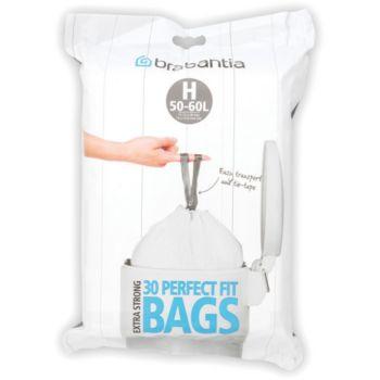 brabantia sacs poubelle 50l 30sacs distributeur sac. Black Bedroom Furniture Sets. Home Design Ideas