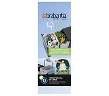 Sac poubelle Brabantia 18L biodégradable - rouleau de 10 sacs