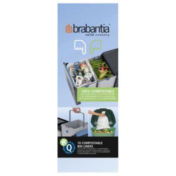 Brabantia 18L biodégradable-10 sacs- Q
