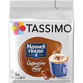 Dosette Tassimo Café Maxwell House Cappuccino Choco X8
