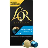 Dosettes exclusives L'or  Espresso Café Decaféinato 6 X10