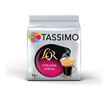 Dosettes exclusives Tassimo Café L'OR Long  Intense X16