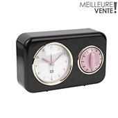 Horloge Present Time Horloge vintage noire PT2970BK